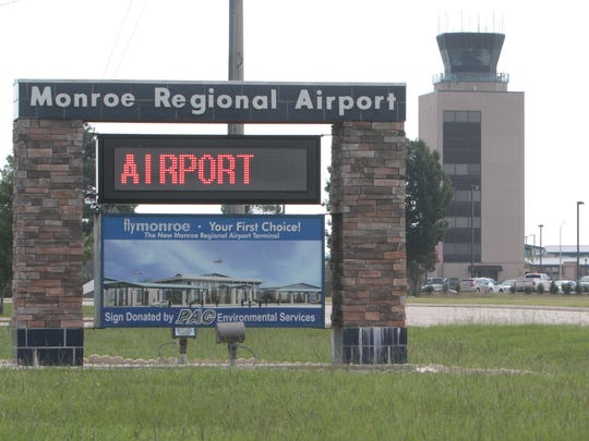 The current sign at the Monroe Regional Airport will be replaced with a larger one.