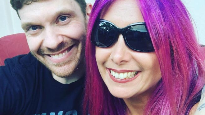 Mistress Carrie with Brent Smith of Shinedown.