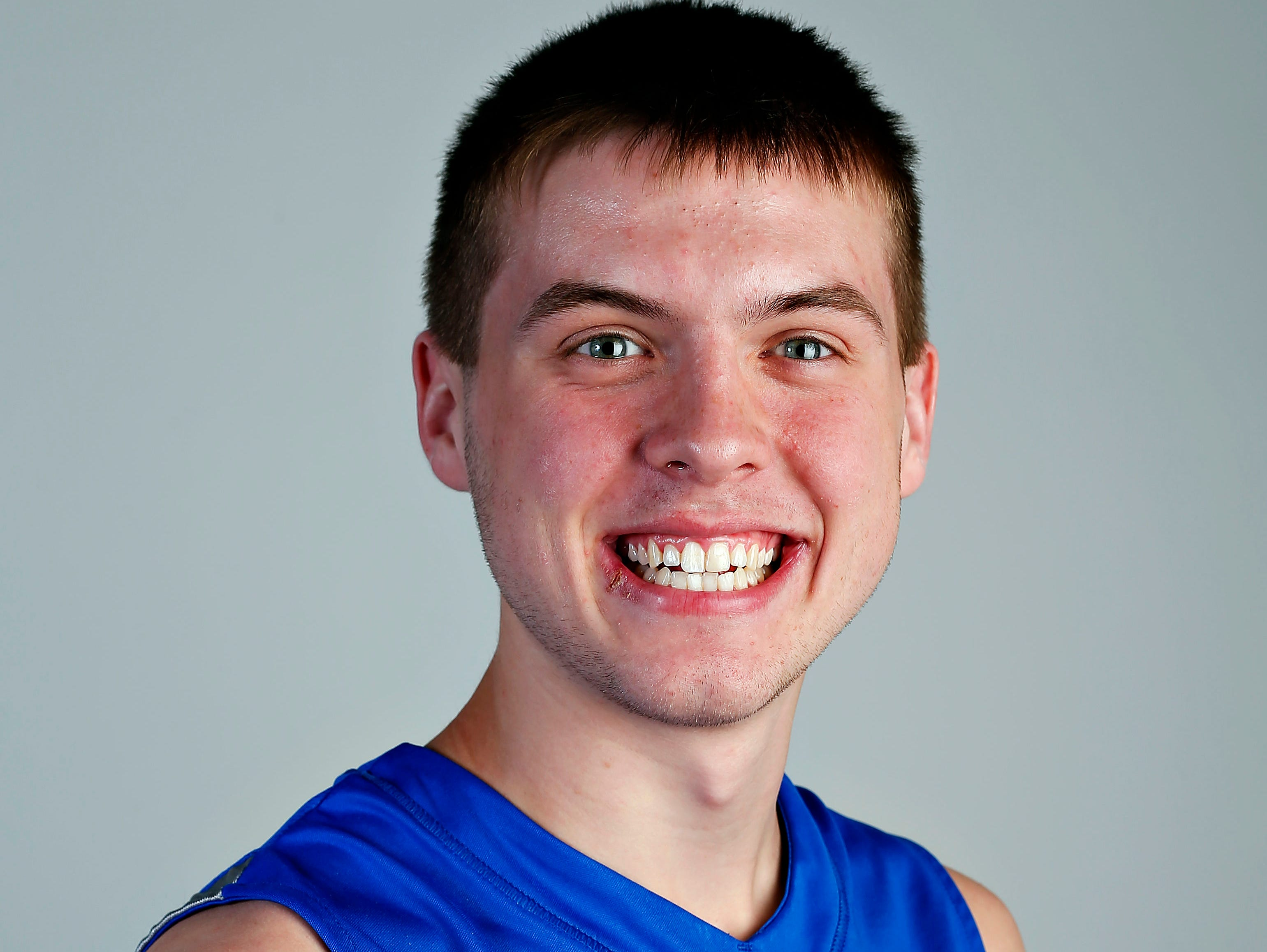 All Ozarks basketball team member Brady Petry of Hillcrest at the Springfield News-Leader portrait studio in Springfield, Mo. on April 29, 2015.