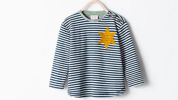 Clothing manufacturer Zara has stopped selling a children's T-shirt that resembles the uniform Jewish prisoners wore during World War II in Nazi concentration camps.