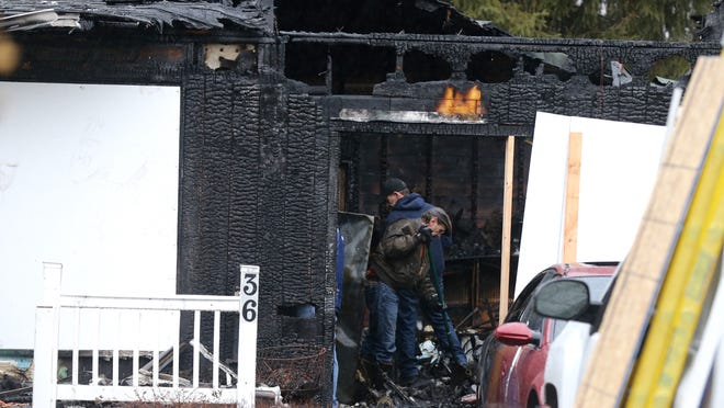 The home, at 36 Landing Park, sustained a lot of damage from the 3 a.m. fire.