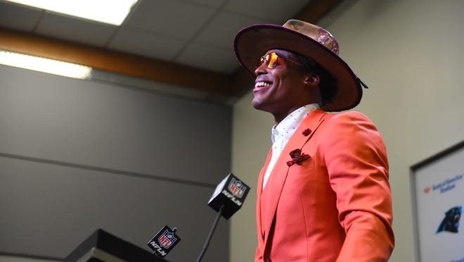 Patriots quarterback Cam Newton has been sporting such outfits since his days starring for the Carolina Panthers.