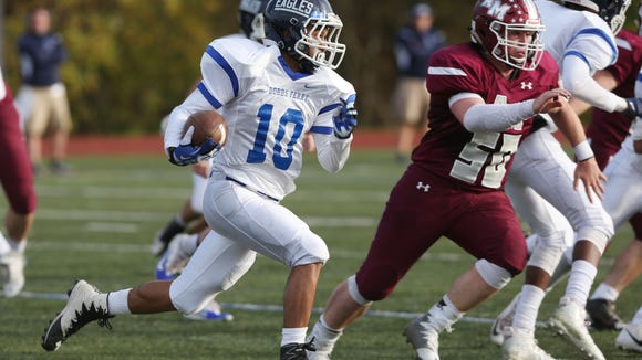Alberts Magnus defeated Dobbs Ferry 17-7 in the Section 1 Class C championship game at Mahopac High School Nov. 4, 2017.