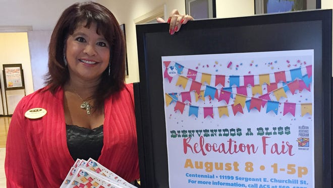 Cher Poehlein is organizing the annual Bienvenidos a Bliss Relocation Fair, which will be held at the Centennial Club on Aug. 8.