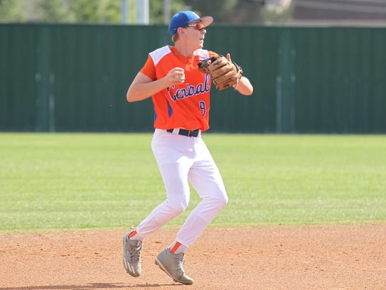 San Angelo Central High School shortstop Cole Nelson