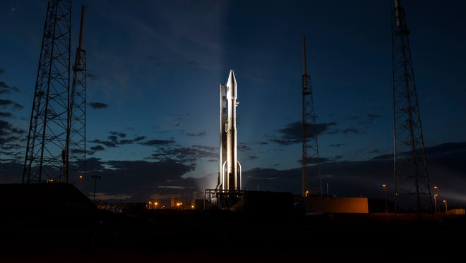 A United Launch Alliance Atlas V rocket, with NASA's MMS mission on board, before their March 12 liftoff from Cape Canaveral Air Force Station.