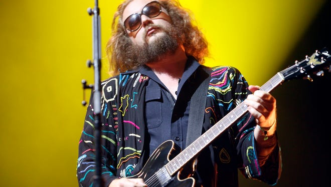 Jim James of My Morning Jacket performs Saturday night at Forecastle in Louisville, Ky.  July 18, 2015