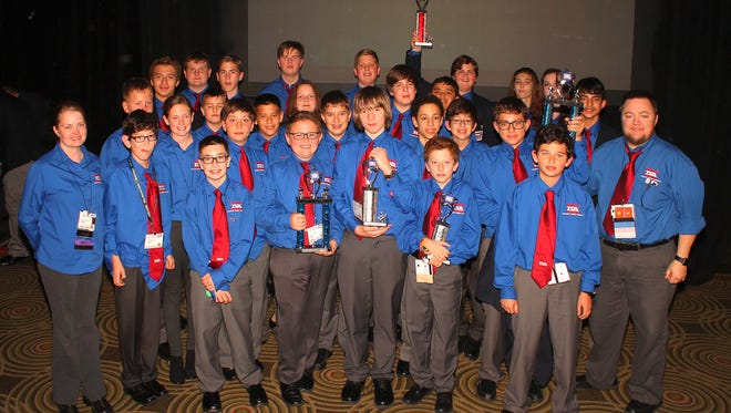 Working collaboratively,10 students from Oasis Elementary School and 17 students from Oasis Middle School attended the Florida State TSA (Technology Student Association) conference and competition along with approximately 1,600 other students from across the state of Florida.