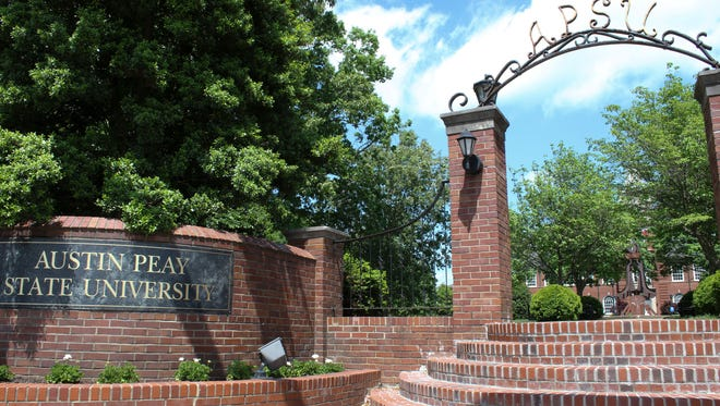 The entrance to Austin Peay from College Street.