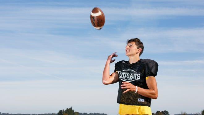 Cascade High School student Michael Biddington is a wide receiver for the school's football team.