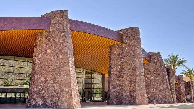 The Palm Springs Convention Center is built on land leased from members of the Agua Caliente.