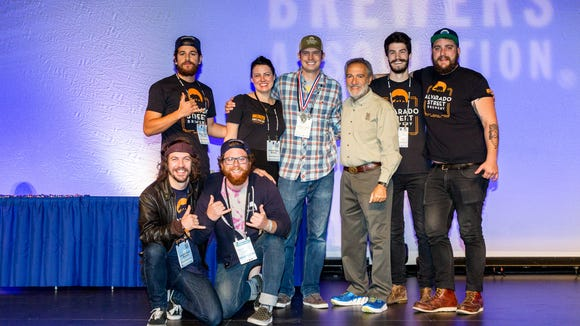 All seven brewers from Alvarado Street Brewery attended the Great American Beer Festival in Denver last week, and the team took home silver medal for the Mai Tai PA.