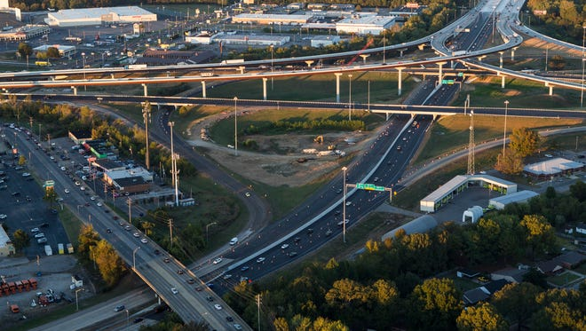 Six of the seven eastbound lanes at the busy Interstate 40-240 interchange will open Wednesday night.