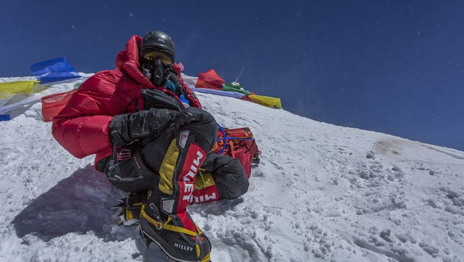 At 10 a.m.  May 19, Jen Loeb of Marengo stepped to the top of the world, the summit of Mount Everest. Loeb shared her story this past summer.