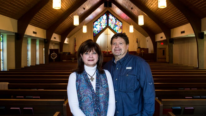 """February 27, 2017 - Perri and Barry Mathis, members of Aldersgate United Methodist Church, signed power of attorney forms to care for four children ages 1-12, in the event their Mexican parents are detained or deported. """"They are the sweetest family. They've worked hard, taken care of their children, been great neighbors, joined our church. Now, all of a sudden, they've got to worry about being taken away from their children. For what?"""" Perri Mathis said."""
