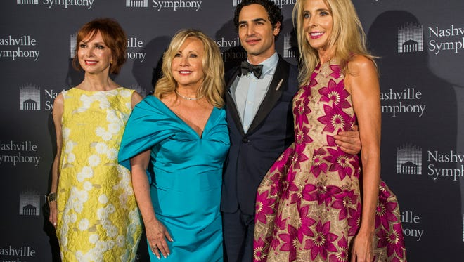 Sandra Lipman, Shaun Inman, Zac Posen and Sheila Shields at the Nashville Symphony Fashion Show Tuesday night at Schermerhorn Symphony Center.
