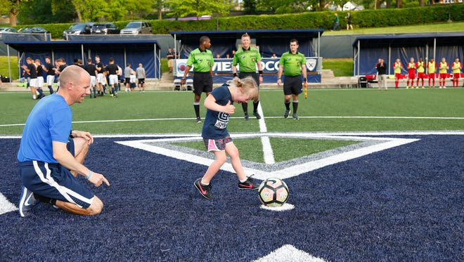 The sixth annual Devin's Gam, the Xavier men's soccer match named for head coach Andy Fleming's daughter and played for the benefit of the Down Syndrome Association of Greater Cincinnati's Annual Buddy Walk, took place Saturday, April 29.