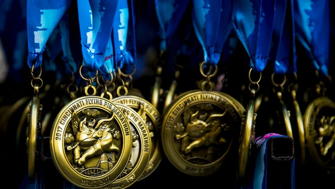 More than 39,000 medals were awarded at last year's Flying Pig Marathon.
