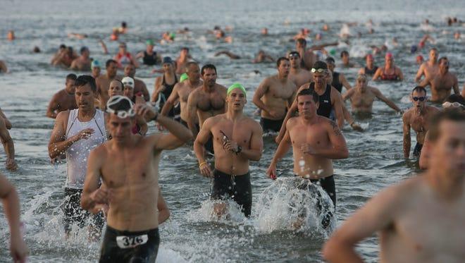 Saturday's sprint triathlon includes a 1/4-mile swim in the Caloosahatchee, an 11-mile bike ride and a 5K run.