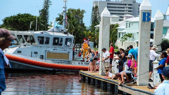 The Offshore Rodeo Fishing Tournament features a children's event which includes a fishing rod and lunch with Ronald McDonald.