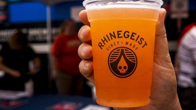 Rhinegeist's Strawberry Basil Dodo beer Thousands was a limited release at Taste of Cincinnati on Fifth Street in downtown Cincinnati.