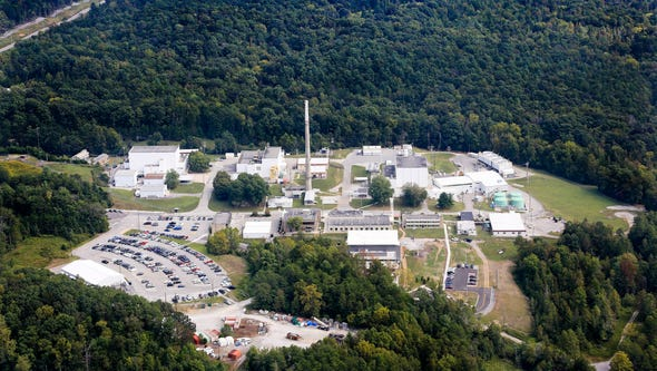 High Flux Isotope Reactor complex seen in September