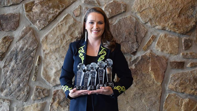 Prattville's own Jessie Lynn for sweeping five categories recently at the North American Country Music Associations, International (NACMAI) awards on Sunday.