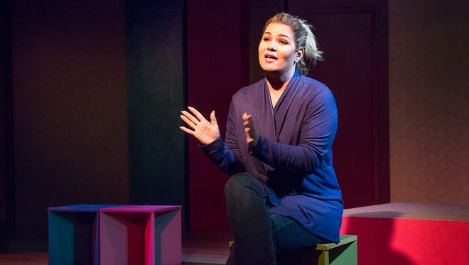 """Theresa Jewett shines in the Dezart Performs production of """"Motherhood Out Loud"""" at the Pearl McManus Theatre in the Palm Springs Woman's Club"""