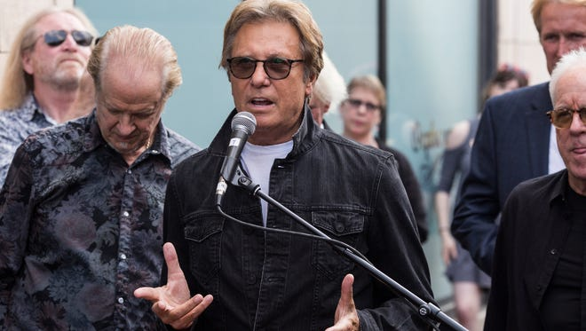 Robert Lamm speaks to fans after the band Chicago was honored with a star on the Orpheum's Walk of Fame on May 15, 2018. The keyboardist and singer did not perform with Chicago at Summerfest Saturday after experiencing some vertigo.