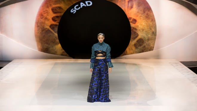 One of three designs by Montgomery native Adorr Reynolds shown during the recent Savannah College of Art and Design's SCAD FASHWKND.