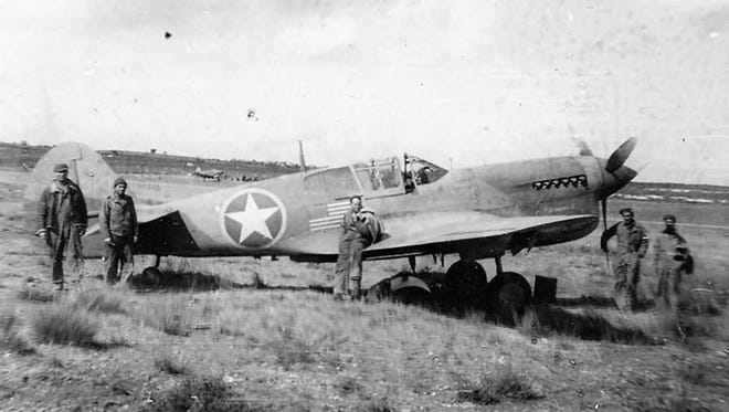 Curtiss P-40 Warhawk, shown here at an American airfield in North Africa in late 1942, was the primary U.S. Army Air Forces ground attack aircraft in 1942 and early 1943.