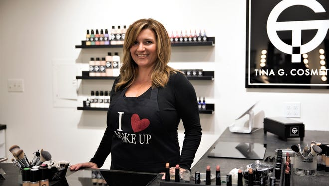 "Entrepreneur and single mom Christina ""Tina"" Gaudy opens her first beauty store, Tina G. Cosmetics."