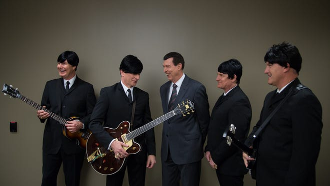 Southwest Airlines CEO Gary Kelly (far left) and his fellow executives  dressed up as the Beatles for halloween. Stephen M. Keller, 2014