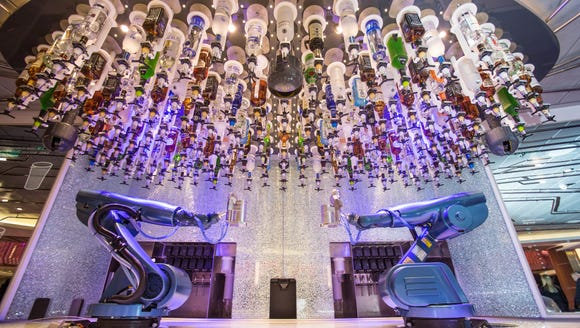 The Bionic Bar on Royal Caribbean's Quantum of the