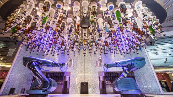 The Bionic Bar on Royal Caribbean's Quantum of the Seas.   Two70