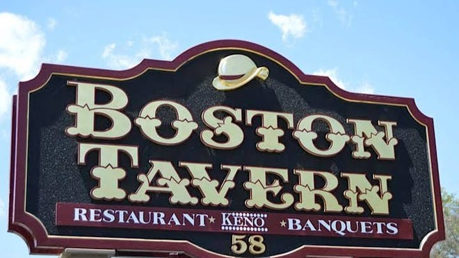 The sign outside Boston Tavern in Middleboro.