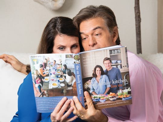Lisa Oz and Dr. Mehmet Oz in their Cliffside Park home