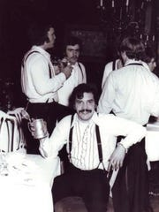 Joe Harding in the early 1970s when he was a student at Marquette University and enjoying a sorority dinner dance at the Pfister Hotel. Harding dropped out as a senior in 1974 but returned to Marquette 42 years later to finish what he started.
