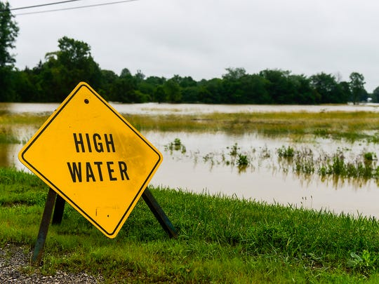 Heavy rains throughout the week flooded fields. Some Marion County farmers have not been able to plant all of their crops this year because of the unusually wet weather and poor field conditions.