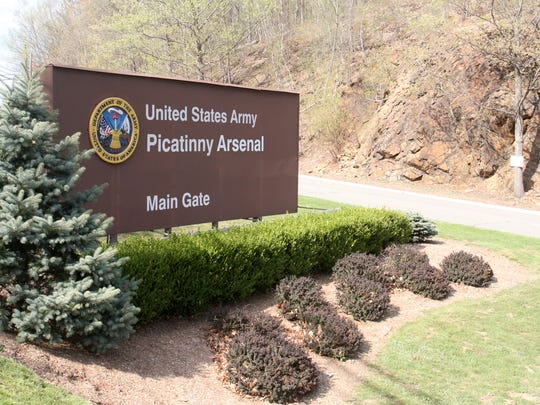 The main gate at Picatinny Arsenal, Monday, May 4, 2015.