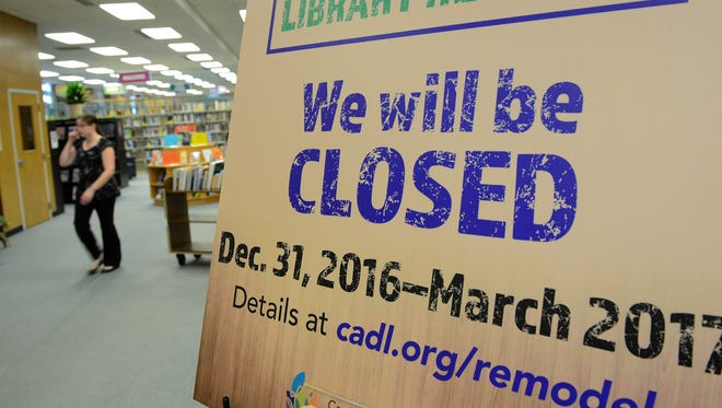 The second floor of the CADL downtown Lansing branch Wednesday Nov. 30, 2016 in Lansing. The branch will be closed from the end of December to March 2017 for a complete remodel of the first and second floors of the building, along with the lobby.