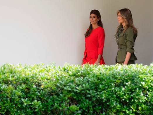 First lady Melania Trump took another turn as White