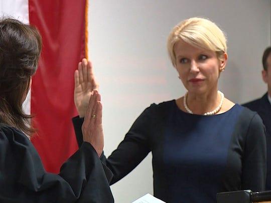 Susan Hawk is sworn in as Dallas County District Attorney.