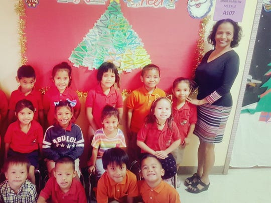 Ms. Mary Cruz and her Kindergarten Class proudly represented