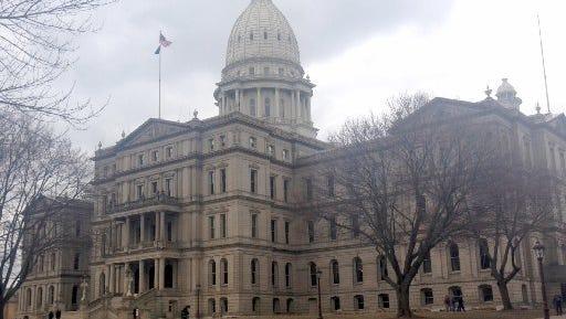 State capitol in Lansing, Michigan.