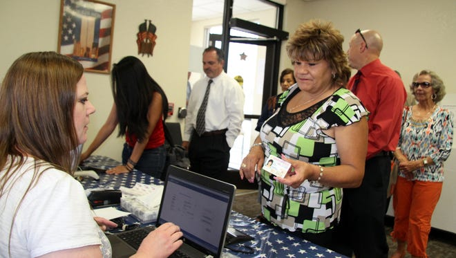 The Eddy County Clerk's Office was packed with voters on their lunch hours during Tuesday's primary elections.
