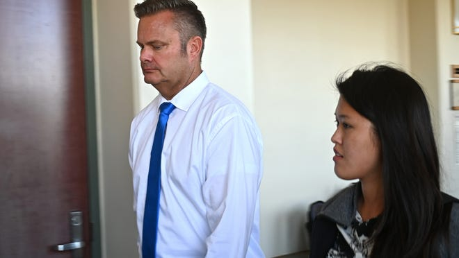 In this Feb. 21, 2020, file photo, Chad Daybell, Lori Vallow's current husband, walks into court for his wife's hearing on child abandonment and other charges in Lihue, Hawaii. Daybell, the husband of Idaho mom Lori Vallow, was taken into custody Tuesday, June 9, 2020, hours after police executed a search warrant at his Idaho home as part of the investigation into the disappearance of Vallow's children. Daybell and Vallow were married in Hawaii on Nov. 5, just two weeks after his wife was found dead at home.