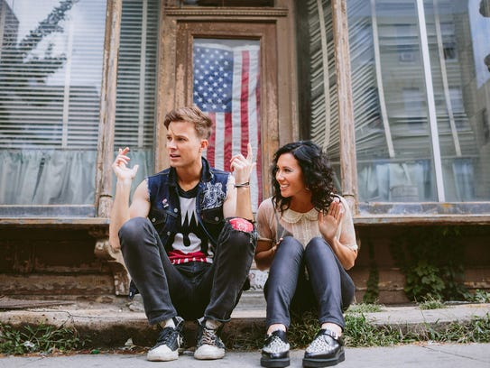 Indie rock duo Matt and Kim.