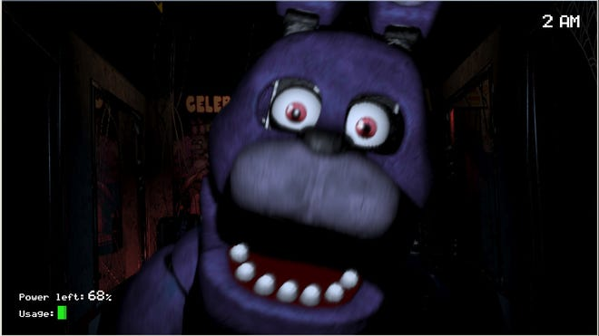 "Despite its simple premise, ""Five Nights at Freddy's"" will make players jump in fear."