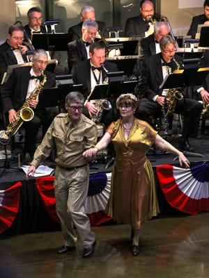 Bobby Brady and Penny Brady of Simpsonville dance to music performed Saturday by the Electric City Big Band at the GAMAC USO Sweetheart's Dance at The Bleckley Station in downtown Anderson.